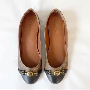 🥿 Coach Leila leather flats